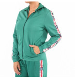 Zoe Karssen Zip through high eck sweat groen