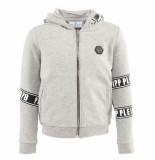 Philipp Plein Junior hoodie sweatjacket tm grijs