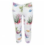Monnalisa Leggings stampato seaflowers wit
