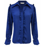 Goldie Estelle Jane blouse – kobalt blauw