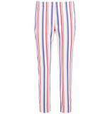 Taifun Crop leisure trouser:skinny l off- patterned 320048-17129 wit