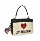 Moschino Love heart shoulder bag wit/zwart