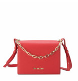 Moschino Love small logo smooth bag rood