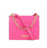 Moschino Love small logo smooth bag roze