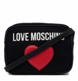 Moschino Love big heart small bag zwart
