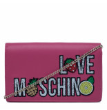 Moschino Love small fruit tas roze