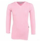 Reinders Twin set sweater lurex roze