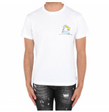 Off White Homer and bart s/s skinny tee wit