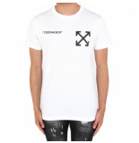 Off White Flamed bart s/s slim tee wit