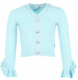 Reinders Diamond top lurex ruffle blauw