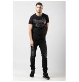 My Brand Trouble panther badge t-shirt - zwart