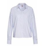 Hilfiger Denim Tjw cropped boxy multi shirt serenity/classic whit wit