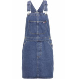Hilfiger Denim Classic dungaree dress prpms prep mid stone rigid