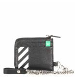 Off White Diag zip in wallet zwart
