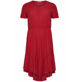 Only Carmakoma Cardidde ss dress blk 15176962 high risk red rood