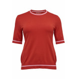 Only Carmakoma Carnam ss o-neck 15171955 high risk red rood