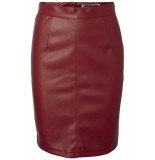 Noisy may Nmpenny pu skirt noos 27001695 flame scarlet rood