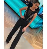 Byblos Enverse jumpsuit long - zwart