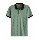 Scotch & Soda Classic clean pique polo with all-over groen