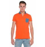Dutch Dandies Polo met korte mouwen oranje