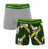 Muchachomalo Men 2-pack shorts panda grijs