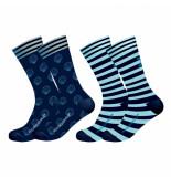 Muchachomalo Men 2-pack socks printed coral