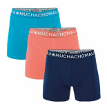 Muchachomalo Men 3-pack short solid/solid/solid zalm