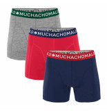 Muchachomalo Men 3-pack short solid/solid/solid blauw