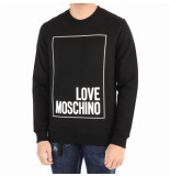 Love Moschino Felpa lim fit-t logo box zwart