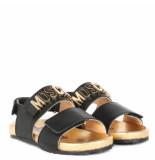 Moschino Kids sandal logo zwart