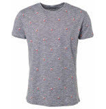 No Excess T-shirt s/sl, r-neck, slub, ao prin night grijs