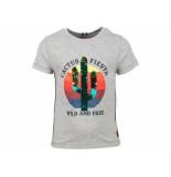 Someone Shirt korte mouw cactus fiesta melee grijs