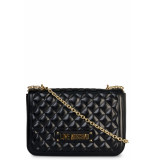 Moschino Love quilted shoulder bag zwart