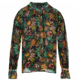 Scotch & Soda Blouse met jungleprint groen