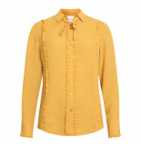 Scotch & Soda Blouse ruffle okergeel