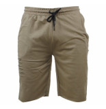 MZ72 Heren sweat short damaged look jeto kaki khaki