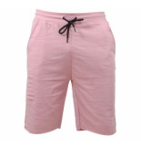 MZ72 Heren sweat short damaged look jeto roze