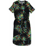 Geisha 97486-20 999 jurk black combi zwart