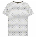 PME Legend Ptss194529 7003 short sleeve r-neck single jersey aop bright white wit