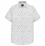 PME Legend Psis194219 7003 short sleeve shirt fil coupe luca bright white wit