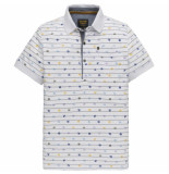 PME Legend Ppss194868 7003 short sleeve polo single jersey bright white wit