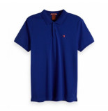 Scotch & Soda Classic clean pique polo blauw
