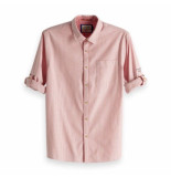 Scotch & Soda rolled up shirt rood