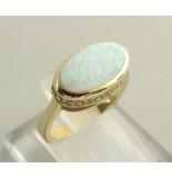Christian 14 karaat ring met opaal