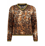 Only Onlselco snake l/s top jrs 15181942 caramel cafe cognac