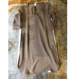 Penn & Ink S19n6 650-05 ny jurk streep havana - ecru