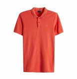Scotch & Soda Classic clean pique polo oranje
