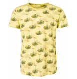 No Excess T-shirt s/sl, r-neck, ao print, out lime geel