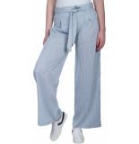 Geisha Pants blue/white stripe wit