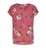 Jacqueline de Yong Jdytrick treats s s top wvn 15174353 cayenne/pink flower roze